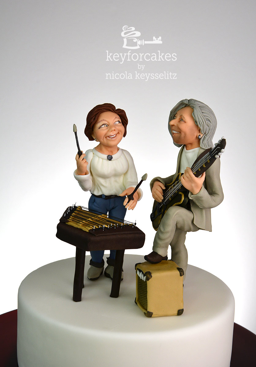 cake topper f r ein musikerpaar key for cakes. Black Bedroom Furniture Sets. Home Design Ideas