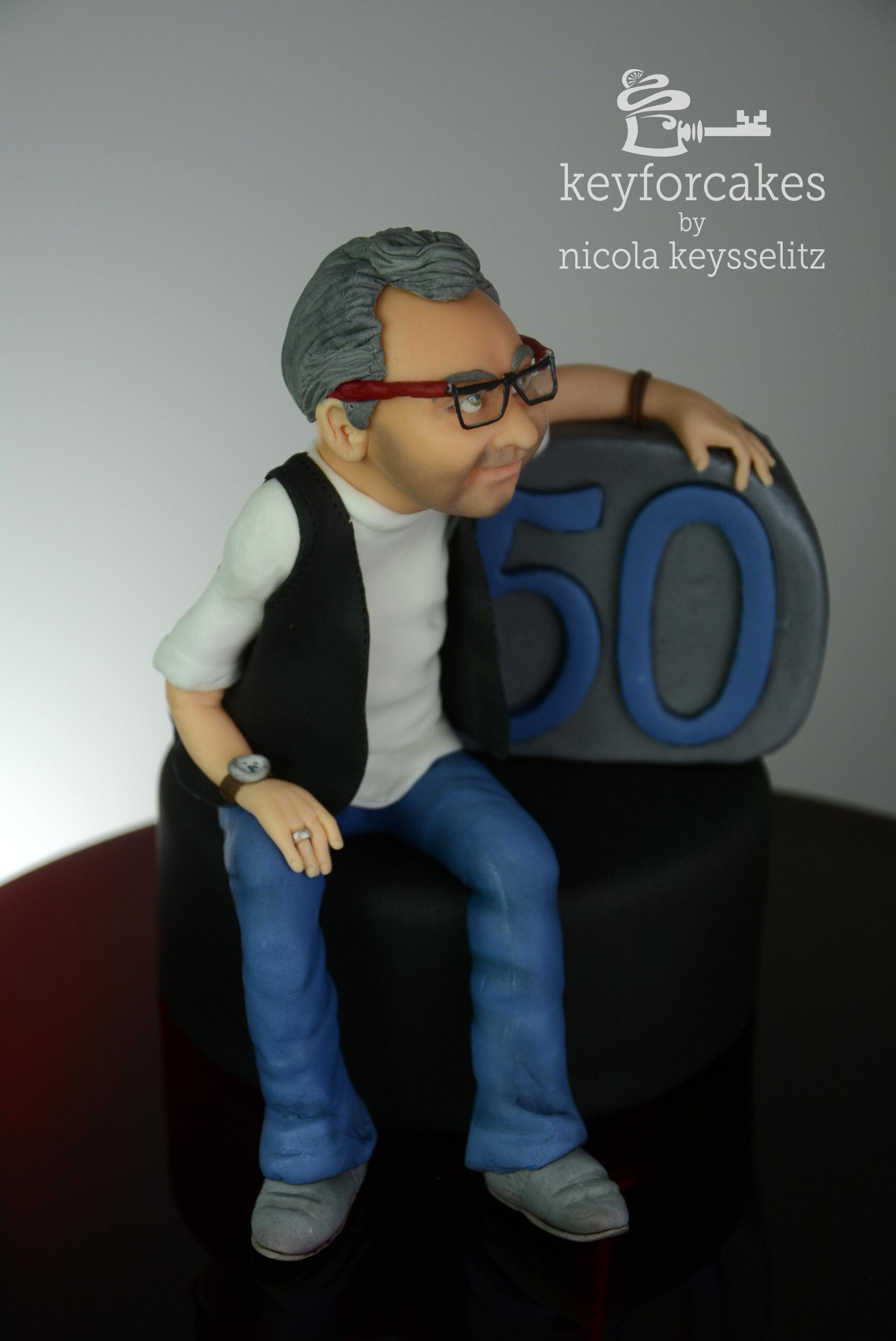 Torten Topper Zum 50 Geburtstag Key For Cakes