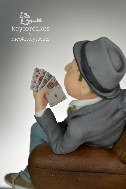 Pokerspieler - Auftragsarbeit aus Fondant