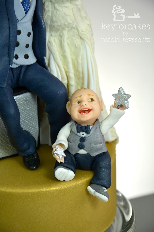 Detailaufnahme Torten Topper mit Baby
