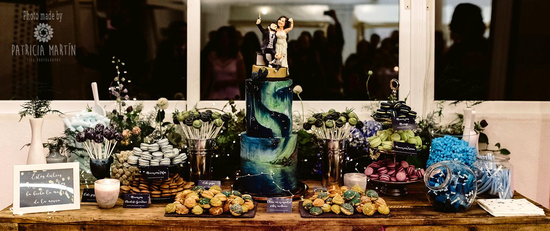 Sweet Table mit Hochzeitstorte meiner eigenen Tochter