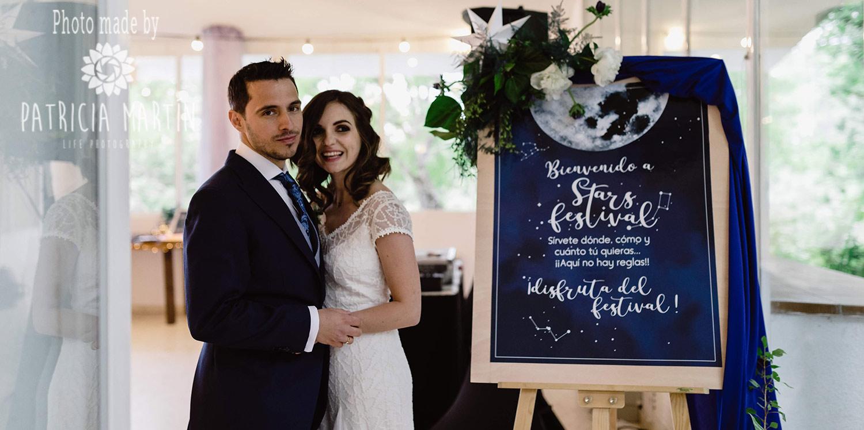 Das Brautpaar - Hochzeitsfeier als Stars Festival