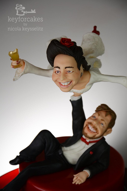 Die fliegende Braut - Tortentopper für Hochzeitstorte